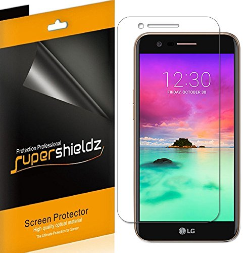 (6 Pack) Supershieldz for LG K20 (AT&T) Screen Protector, High Definition Clear Shield (PET)