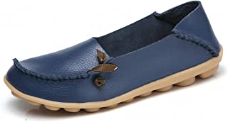 Women's Penny Loafers Slip On Casual Boat Shoes Driving Slippers