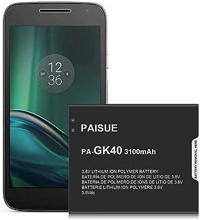 Battery for Motorola GK40, Higher Capacity 3100mAh Replacement Battery for Moto G4 Play XT1607, Moto G5 XT1601, New Phone ...