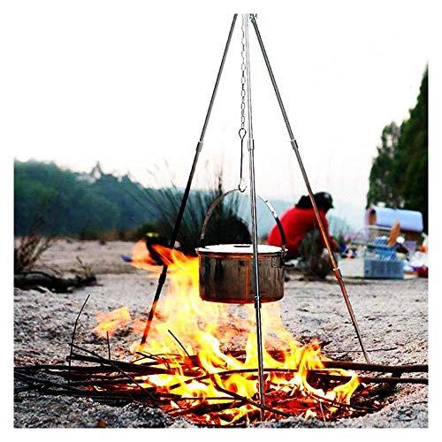 Zueyen, treppiede da campeggio, per la cottura a fuoco, per la cottura e il forno olandese, con treppiede regolabile, per barbecue e barbecue