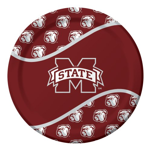 8-Count Paper Dinner Plates, Mississippi State Bulldogs