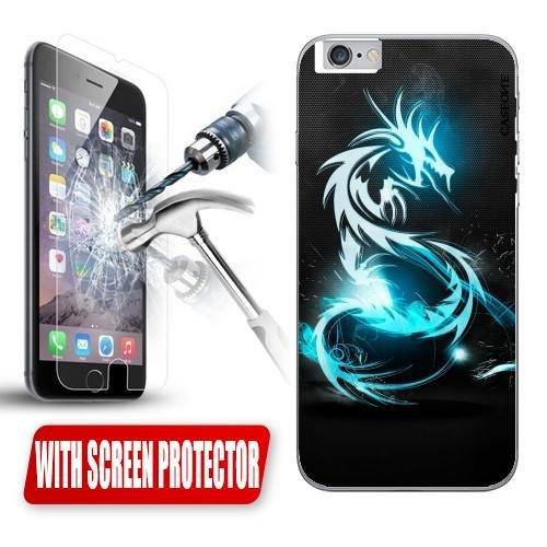 Custodia Cover Case Drago Cinese per iPhone 6 Plus + Pellicola Vetro