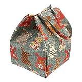 Abaodam Bolsa de almuerzo portátil Estudiante de mano Bolsa de picnic Oxford Paño Bento Bolsa térmica