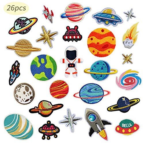 Meilo 26 Stks Prachtige DIY Kleding Patches Stickers, Iron On Patches, Borduurwerk Applique voor Kleding DIY Kleding Stickers Aangepaste Badges.