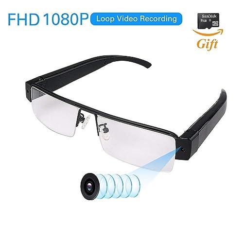 a233ce590e FHD 1080P Wearable Camera with Video Recording Mini Spy Camera Sunglasses