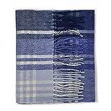 Kiltane of Scotland - Sciarpa invernale in tartan, 100% lana d'agnello, colore: multicolore JK Navy Blue Check Taglia unica