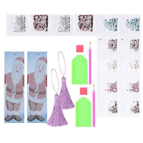 Kit de pintura de cristal, artes de arte ligero de alta calidad aprox. 20.4 x 5.6cm Material de cristal de resina de taladro de resina