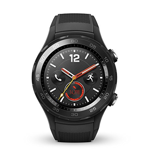 HUAWEI Watch 2 4G Sport Smartwatch, Fitness and Activities Tracker with Built-in GPS, Heart Rate, Music, Smart Notificatons, IP68-Life Waterproof - Black