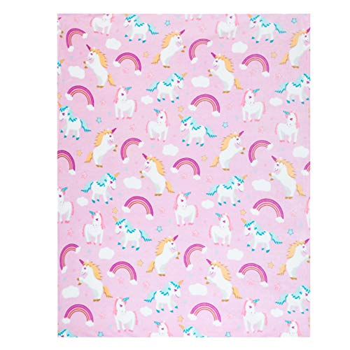 Unicorn Throw Blanket, Adorable Super-Soft Extra-Large Fluffy Kids Unicorn Blanket for Girls,...
