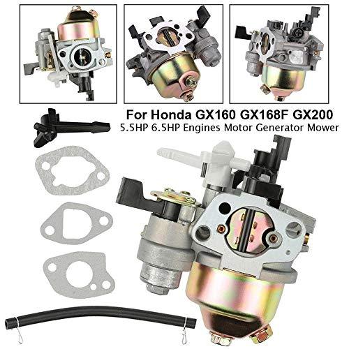 QIUXIANG Carburador de carbohidratos en Forma for Honda GX160 GX200 GX168F 5.5HP 6.5HP + Tubería de Combustible Juntas Motor