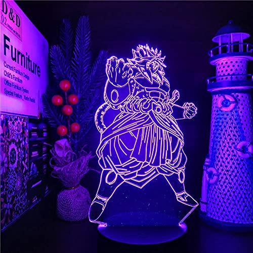Lámpara de ilusión 3D Luz de noche LED Dragon Ball Super Broly Ssj4 Lámpara de anime que cambia de color Cielo nocturno Lámpara de Dragon Ball Z Brold para decoración del hogar