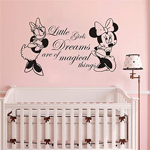 Minnie Mouse autocollant mural Chambre d'enfant Decor Minnie Mouse Et Daisy Decal Kid Room Quotes Murale Minnie Mouse Room Decoration
