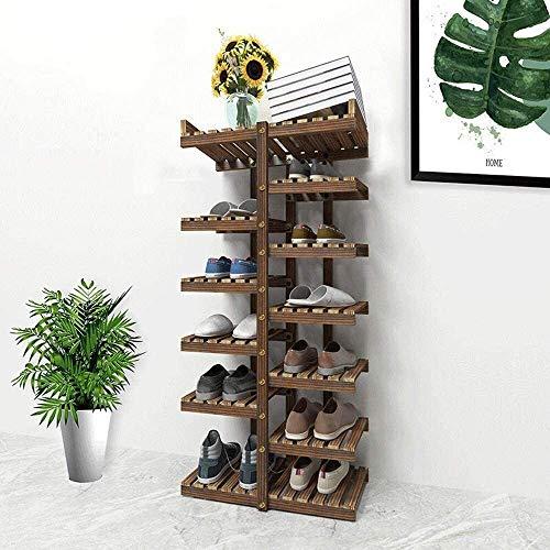 Zapatero Sencillo y moderno de múltiples capas del zapato Gabinete Económico dormitorio principal de la sala de ahorro de espacio de almacén multi-funcionales de madera sólida del gabinete del zapato