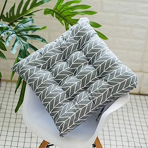 SOFIL Coussin de Chaise avec Attaches pour Patio,Maison,Voiture,canapé,Bureau,Tatami décoration (Carré)