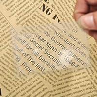 IGOSAIT 読書用ルーペ 10 PCSポケットクレジットカード3 X拡大鏡8.00 * 5.50 * 0.04センチメートル倍率拡大鏡フレネルレンズサイズ透明拡大鏡