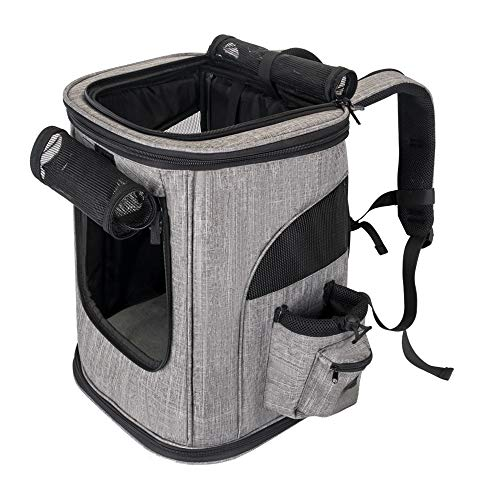 SlowTon Pet Carrier Backpack, Airline Approved Small Dog Cat Foldable Carrier 4...
