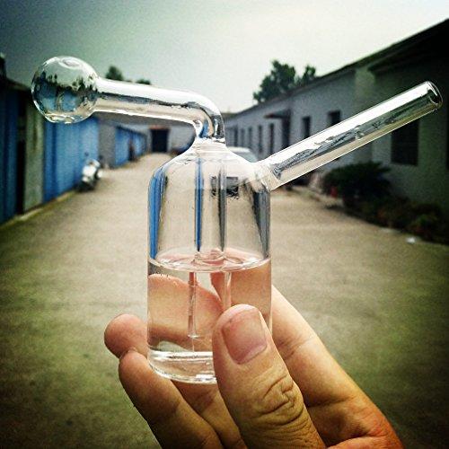 RORA Glass Bong Vorkühler - 12cm Mini Pipes Bong Kopf Percolator Small Bong Gla (Clear)