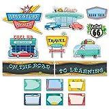 Creative Teaching Press Mid-Century Mod On The Road to Learning Mini Bulletin Board Set (8444)