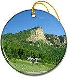Silverton Million Dollar Highway Colorado USA Adornos redondos de cerámica de 2,8 pulgadas Pandent para amigos de familia