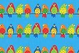 Westfalenstoffe * Vögel auf der Leine 0,5m * Kinderstoff *
