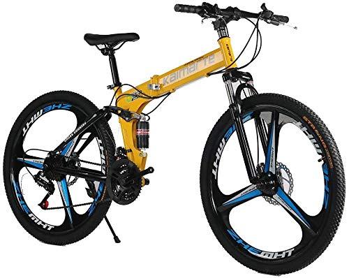 Bicicleta de montaña de 24/26 pulgadas, doble disco de freno, amortiguación, plegable, para adultos, 24 pulgadas, 24 velocidades, 27 velocidades, 26 pulgadas