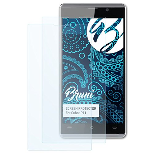 Bruni Schutzfolie kompatibel mit Cubot P11 Folie, glasklare Bildschirmschutzfolie (2X)