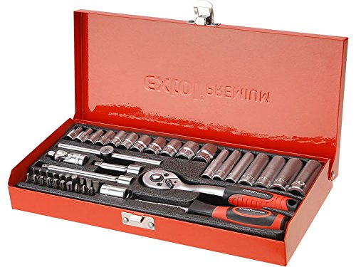 EXTOL PREMIUM 8818360 dopsleutelset, 45 stuks, 1/4-inch