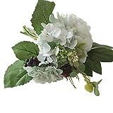 UEVOS Artificielle Faux Fleurs Multicolore Dahlia Couleurs Vives Matériaux de Qualité Supérieure Soie Pivoine Floral Bouquet De Mariage Bouquet De Mariée Hortensia Décor