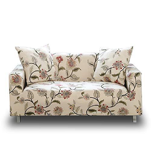 HOTNIU Elastischer Sesselbezug 1-Stück Stretch Sofa-Überwürfe, Sofaüberzug, Sofahusse, Sofabezug, Sofa Abdeckung Hussen für Couch, Sessel in Verschiedene Größe und Farbe (3 Sitzer,Muster #15)