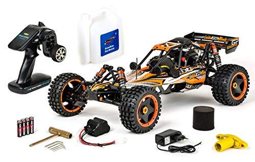 Carson Modellsport Wild GP Attack 1:5 RC Modellauto Benzin Buggy Heckantrieb (2WD) RTR 2,4 GHz