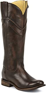 Justin Boots MSL504 Women Round Toe Leather Brown Western Boot