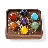 Gemwonder, pietre curative, 7 pietre chakra, cristalli di guarigione, pietre naturali per Reiki e Energia, cristallo guarigione