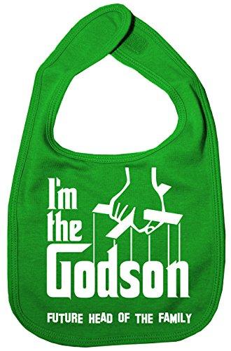 IIE Bavoir unisexe pour bébé avec inscription « I'm The Godson Future Head of Family » Vert