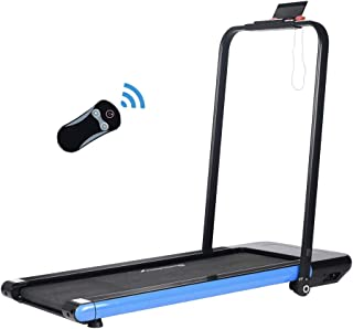 HLEBJII 2 in 1 Folding Treadmill,Under Desk Treadmill with Bluetooth Audio Speakers,Remote Control and LED Display,Installation-Free,Walking Jogging Machine for Home/Office Use.Delivery in10 Days