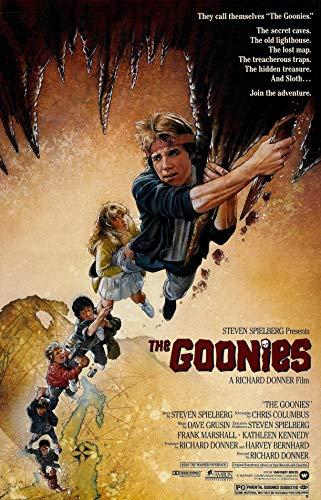 Theissen The Goonies Vintage Movie Reproduction Poster/Print - Póster enmarcado mate (28 x 43 cm) *IT-00073