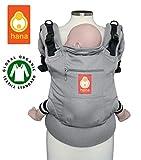 Hana Baby Carrier - Bio baumwolle Bauch und Ruck Babytrage. 3.5-20kgs (Grey)