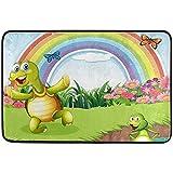 Turtle Frog Rainbow Felpudo, Sala de Estar Dormitorio Cocina...
