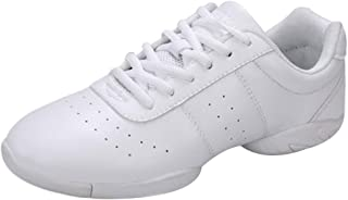 Fulision Female and Kids PU Split-Sole Modern Dance Breathable Sneakers