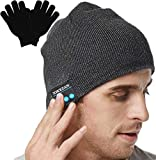 XIKEZAN Upgraded Unisex Knit Bluetooth Beanie Hat Headphones V4.2 Unique Christmas Tech Gifts for Men/Dad/Women/Mom/Teen Boys/Girls Stocking Stuffer w/Built-in Stereo Speakers