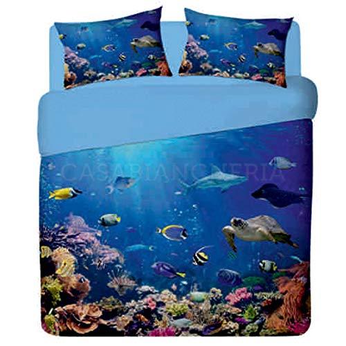 Casabiancheria Juego de sábanas para cama de plaza y media Red Sea-1