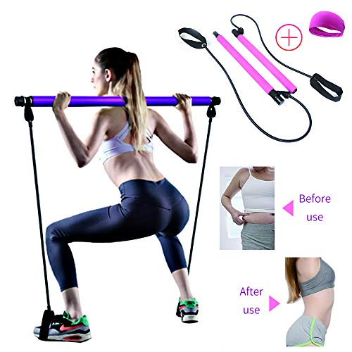 TCB Portable Yoga Pilates Bar Ki...