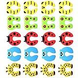 IMIKEYA 20 Stück Türklemmschutz Kindersicherheit Fingertürschutz Cartoon Tier Türstopper Kissen Baby Fingerschutz Zufällige Farbe Stil