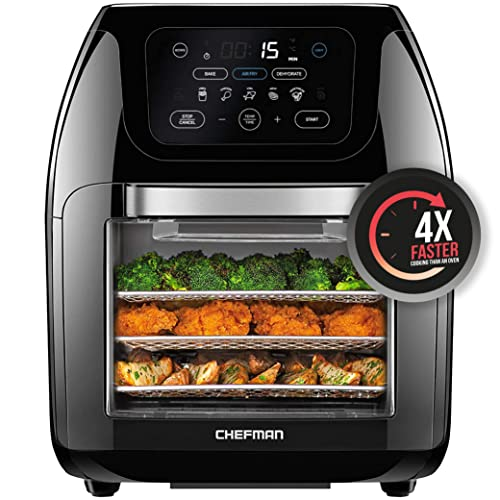 Chefman Multifunctional Digital Air Fryer+ Rotisserie, Dehydrator, Convection Oven, 17 Touch Screen...