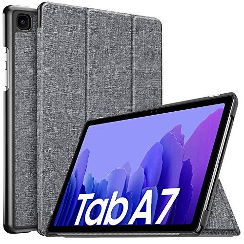 IVSO Hülle für Samsung Galaxy Tab A7 10.4 2020, Schlank Slim Schutzhülle Hochwertiges PU mit Standfunktion, Samsung Galaxy Tab A7 T505/T500/T507 10.4 Zoll 2020 Hülle Hülle, Gray
