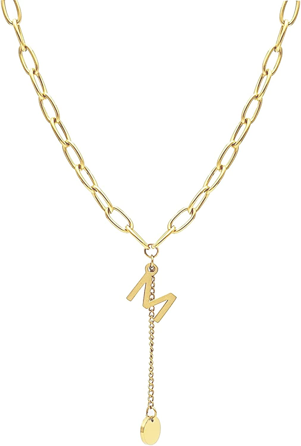 GYGOLEP Exquisite Ladies Ranking TOP13 Necklace 18K Store Cut Gold-Plated Simple and