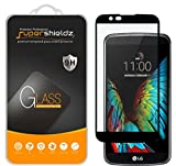 (2 Pack) Supershieldz for LG K10 Tempered Glass Screen Protector, (Full Screen Coverage) 0.33mm, Anti Scratch, Bubble Free (Black)