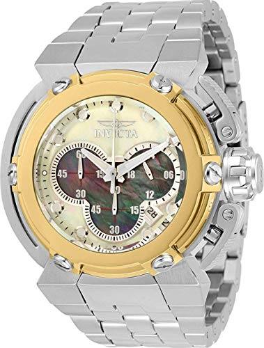 Invicta Men's 46mm Coalition Forces X-Wing Chronograph High Polish Silver Tone Stainless Steel Watch