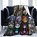 """Halloween Blanket 50""""x40"""", Cartoon Flannel Christmas Blanket Super Soft Warm and Comfortable Throw Blanket for Fall Winter Spring All Season"""