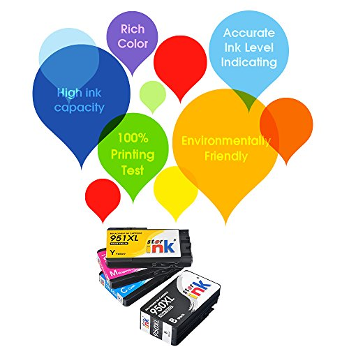 Starink Upgraded Compatible Ink Cartridge Replacement for HP 951 950 XL 950XL 951XL Work with OfficeJet Pro 8100 8600 8610 8615 8620 8625 8630 8640 8660 251DW 271DW 276DW, 4 Packs