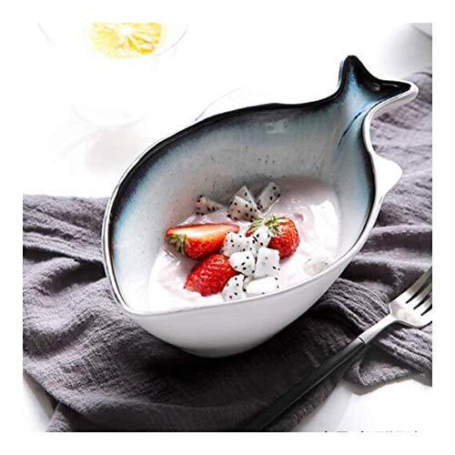 Tazón de cerámica Nordic Home Sopa Bowl de Ensalada de frutas Tazón de cerámica creativa Vajilla Bowl Bowl tapa Arroz Personalidad